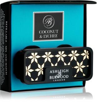 Ashleigh & Burwood London Car Coconut & Lychee Car Air Freshener   Clip