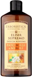 Athena's l'Erboristica Elixir Supreme parfümiertes Duschgel mit dem Duft von Patschuli und Neroli