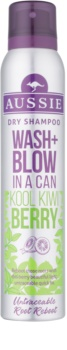 Aussie Wash+ Blow Kool Kiwi Berry Droog Shampoo