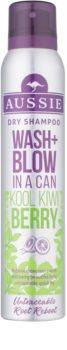 Aussie Wash+ Blow Kool Kiwi Berry shampoing sec