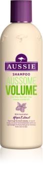 Aussie Aussome Volume Champô para cabelos finos e fracos