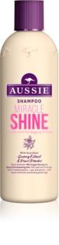 Aussie Miracle Shine champô para cabelos baços e cansados