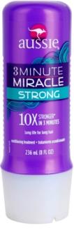 Aussie 3 Minute Miracle Strong condicionador para cabelos danificados com atuação profunda em três minutos