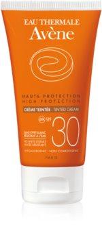 Avène Sun Sensitive сонцезахисний тонуючий крем для шкіри обличчя SPF 30