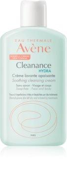 Avène Cleanance Hydra crème lavante apaisante pour peaux sèches et irritées après un traitement anti-acné