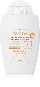 Avène Sun Minéral Αντηλιακό υγρό χωρίς χημικά φίλτρα SPF 50+