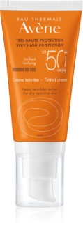 Avène Sun Sensitive cremă protectoare nuanțatoare, pentru piele uscată și sensibilă SPF 50+