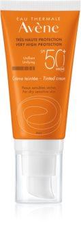 Avène Sun Sensitive Tonad skyddskräm för torr och känslig hud SPF 50+