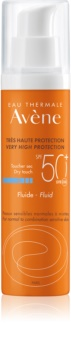 Avène Sun Sensitive Sunscreen Fluid for Normal to Combination Skin SPF 50+