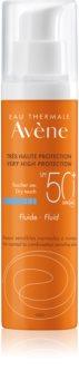 Avène Sun Sensitive zaščitni fluid za normalno do mešano kožo SPF 50+