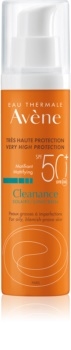 Avène Cleanance Solaire матуючий захисний догляд для шкіри зі схильністю до акне SPF50+