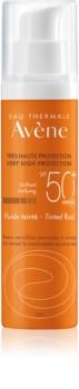 Avène Sun Sensitive προστατευτικό υγρό με χρώμα για κανινική έως μικτή επιδερμίδα SPF 50+