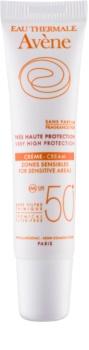 Avène Sun Mineral creme protetor sem quimicos e perfume para as áreas sensíveis SPF50+