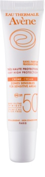 Avene Sun Mineral Protective Cream for Sensitive Areas, Free of Chemical Filters and Fragrance SPF 50+