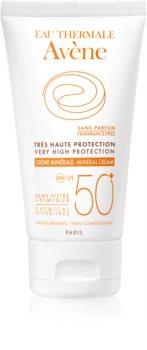 Avène Sun Minéral creme protetor de rosto sem quimicos e perfume SPF 50+