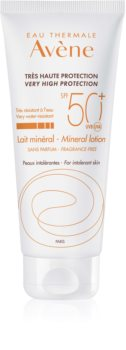 Avène Sun Mineral védő tej kémiai szűrő és parfüm mentes SPF50+