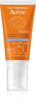 Avène Sun Sensitive emulze na opalování bez parfemace SPF 50+