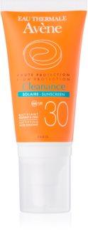 Avène Cleanance Solaire lotiune protectoare pentru protectia solara pentru ten predispus la acnee SPF 30