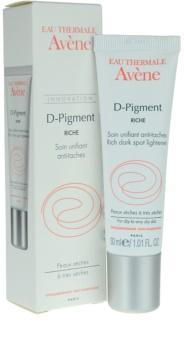 Avène D-Pigment soin éclaircissant taches brunes pour peaux sèches à très sèches
