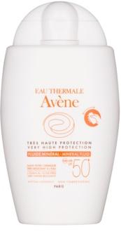 Avène Sun Mineral Αντηλιακό υγρό χωρίς χημικά φίλτρα SPF 50+