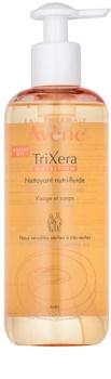 Avène TriXera Nutrition почистващ гел  за лице и тяло