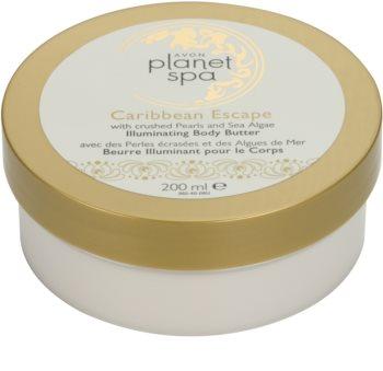 Avon Planet Spa Caribbean Escape crema corporal iluminador con extracto de perlas y algas marinas
