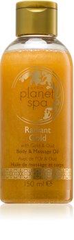 Avon Planet Spa Radiant Gold posvjetljujuće ulje za tijelo i masažu sa šljokicama