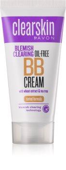 Avon Clearskin  Blemish Clearing tonujący krem nawilżający do skóry problemowej