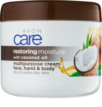 Avon Care feuchtigkeitspendende Creme für Gesicht und Körper mit Kokosöl