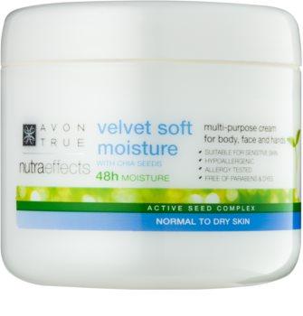 Avon True NutraEffects zjemňujúci hydratačný krém na tvár a telo