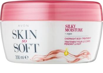 Avon Skin So Soft Silky Moisture cremă de noapte pentru corp