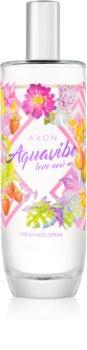 Avon Aquavibe Love Now tělový sprej pro ženy 100 ml