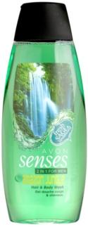 Avon Senses Amazon Jungle shampoing et gel de douche 2 en 1 pour homme