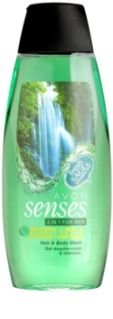 Avon Senses Amazon Jungle shampoo e doccia gel 2 in 1 per uomo