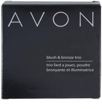 Avon Blush & Bronze Trio blush pentru bronz