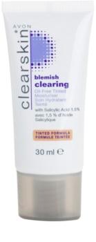 Avon Clearskin  Blemish Clearing tónovací hydratační krém pro problematickou pleť
