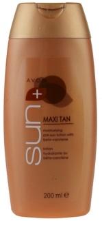 Avon Sun Maxi Tan ενυδατικό γάλα με χρώμα με βήτα καροτίνη