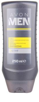 Avon Men Energizing gel de douche corps et cheveux
