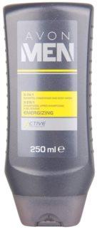 Avon Men Energizing gel de ducha para cuerpo y cabello