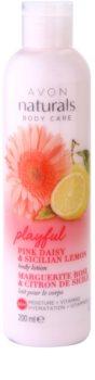 Avon Naturals Body Feuchtigkeitsspendende Milch mit Gänseblümchen und Zitrone