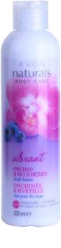 Avon Naturals Body losjon za telo z orhidejo in borovnico