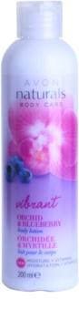 Avon Naturals Body tělové mléko s orchidejí a borůvkou