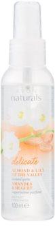 Avon Naturals Body telový sprej s mandľou a konvalinkou