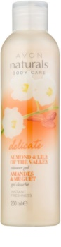 Avon Naturals Body jemný sprchový gel s mandlí a konvalinkou