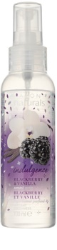 Avon Naturals Fragrance tělový sprej s ostružinou a vanilkou
