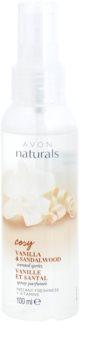 Avon Naturals Fragrance orzeźwiający spray do ciała z wanilią i drzewem sandałowym