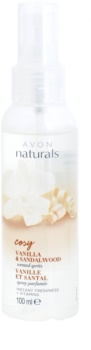 Avon Naturals Fragrance освежаващ спрей за тяло с ванилия и сандалово дърво