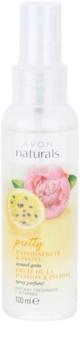 Avon Naturals Fragrance testápoló spray golgotavirággal és bazsarózsával