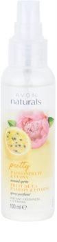 Avon Naturals Fragrance spray pentru corp cu fructul pasiunii si bujor