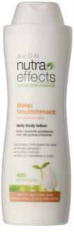 Avon Nutra Effects Nourish hydratačné telové mlieko pre suchú až veľmi suchú pokožku